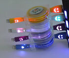 Retractable Smiley LED Micro USB Data Sync Charger Cable iphone 5S 5 5C 6 6Plus