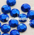 Blue Iron On Faceted Hot Fix Rhinestuds Flatback Shine Gems Tool 2mm 3mm 4mm 5mm