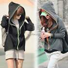 Women Long Sleeve Loose Casual Hooded Zip up Coat Jacket Hoodie Outerwear N4U8