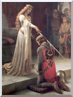 Stretched Canvas Art Print The Accolade by Edmund Blair Leighton Painting Repro