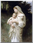 Stretched Giclee Art Print Innocence by William Bouguereau Painting Reproduction