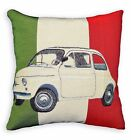 Nj101a High Quality Embroidered Italy Flag Beetle Car Linen Cotton Cushion Cover