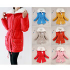 NEW Fleece Warm Cotton Coat Slim Long Winter Ladies Jacket Outwear Size S-XXL