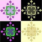 Anemone Quilt #3, Design 8-in 4 sizes-Anemone Quilt Designs & Embroidery Singles