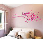 Removable Butterfly Love Photo Frame Nursery Wall Quotes Wall Stickers Wall Art