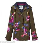 Joules T COAST PRINTED Waterproof Hooded Jacket Dark Pine Floral