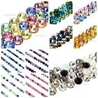 144 Mixed Colors Swarovski 2058/2088 Crystal Flatbacks Pick your Size  Color