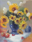 "FLOWER CANVAS ART OIL PAINTING OR CANVAS PRINTS 8x10"" 19 DIFFERENT"