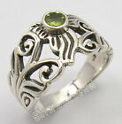 925 Solid Silver Authentic GREEN PERIDOT HANDCRAFTED New Ring All Sizes UNISEX