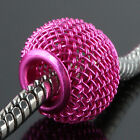 Wire Wrap Knitting Nets Tennis Ball Charms EP Loose Beads Fit European Bracelet