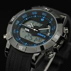 INFANTRY Mens Sport Quartz Wrist Watch Rubber Luxury Aviator Army Chronograph US