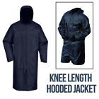 Men Jacket Knee Length Hood Light Weight Waterproof Rain Strom Coat Breathable