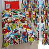 Marvel Comics Justice Single Rotary Duvet and Matching Curtains Set