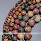 1Strand Picasso Jasper Round Ball Loose Beads Jewelry 4/6/8/10/12/14mm Finding