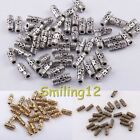 Wholesale Tibetan Silver Column Tube Spacer Beads Jewelry Making Findings 50 Pcs