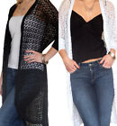Ladies Cardigan Bolero Shrug Womens New Top Crochet Knitted Size 8 10 12 14 16