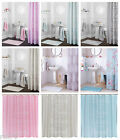 Catherine Lansfield Shower Curtain with Ring Hooks, Bathroom Shower Curtains