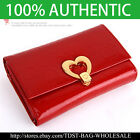 [OMNIA]Crystal Ladies Wallet Genuine Leather Trifold Purse ID Card Coins Bag324M