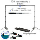 Photography 10Ft Adjustable Background Support Stand Photo Video Crossbar Kit