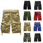 Men's Casual Army Cargo Combat Camo Camouflage Overall Shorts Sports Pants New