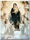 The Virgin with Angels William Bouguereau Repro Stretched Christian Canvas Art
