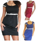 Ladies Dress Office Work Womens Party Pencil BodyCon Mini Skirt Size 8 10 12