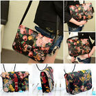 New Women Retro Print Handbag PU Leather Shoulder Bag Satchel Messenger Bag Hobo