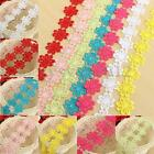 1Yard Fabric Colorful Embroidered Flower Lace Trim Applique Venise Sewing Craft