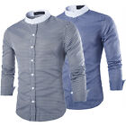 Hot Sale Men's Casual Shirts 2 Colors Long Sleeve Cool Plaid Buttons Collar Tops