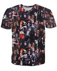 Johnny Depp Characters Face Collage  T-shirt # A081