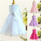 8910 Kids Chirstmas Wedding Party Flower Girls Pageant Dresses Age SIZE 2 to 10Y
