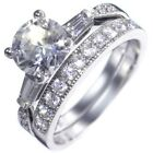 3.13CTW BRILLIANT STONE w/ Baguettes - WEDDING RING SET (2 rings) size 5,6,7,8,9