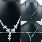 Mixed Size Faceted Crystal Glass Beads Jewelry Necklace Pick Color Gift