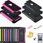 5 Accessories + Impact Hybrid Hard Rubber Case Cover For iPod Touch 5th 6th Gen