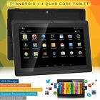 New 7? Android 4.4 Quad Core Dual Camera WiFi Bluetooth Tablet PC 8GB UK