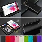 For LG G3 / G4  Luxury PU Leather Flip Credit Card Wallet Stand Case Cover
