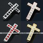5pcs Crystal Cross Charm Pendant Bead Connetor Fit Jewelry Bracelet Finding DIY