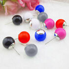 1 Pair Fashion Women Lady Candy Color Round Ball Beads Ear Studs Earrings Newest