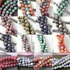 1 Strand Howlite Turquoise Gemstone Round Ball Loose Bead Charm Fit Jewelry DIY