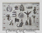 14 pc Peter Pan Inspired Charm Set Lot Collection / Silver / Tinkerbell, Thimble