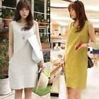 Sexy Lady Women's Casual Sexy Slim Sleeveless O-Neck Tank Mini Dress N4U8