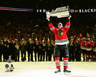 Jonathan Toews Chicago Blackhawks 2015 Stanley Cup Trophy Photo SC110