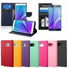 Flip Leather Case Cover Strap Wallet Card Stand for Samsung Galaxy Note 5+Film