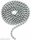 New Mens Ladies Stainless Steel Ball Chain Necklace 23.5'' 60cm army dogtag type