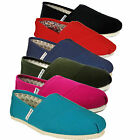 MENS ESPADRILLES LADIES CANVAS PLIMSOLLS SLIP ON WOMENS PUMPS TRAINERS SHOES