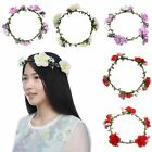 New Women Fake Large Floral Flower Hair Head Band Garland Festival Party Wedding