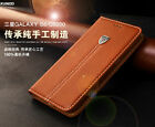 Luxury Classic Flip Real Genuine Leather Wallet Case Cover For Samsung Galaxy S6
