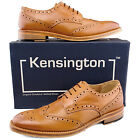 Mens New Formal Smart Office Suit Tan Leather Brogue Shoes 6 7 8 9 10 11 12