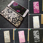 Chic Vintage Lace Pattern Flower Plastic Hard Case Cover For iPhone 5 6 6Plus