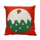 Throw Pillowcase Linen Cushion Christmas Tree/Deer Sofa Cover Case Home Decor